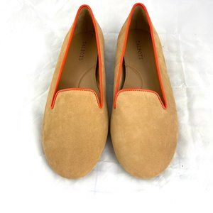 Talbots suede leather loafer slip on flats shoes